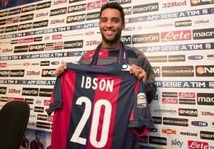 Ibson apresentado no Bologna (Foto: Divulgação)