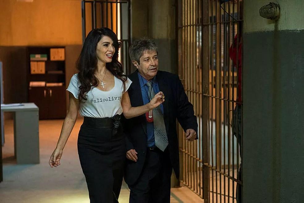 João Carlos como o Delegado Mesquita, em 'Sol Nascente' — Foto: Acervo TV Globo