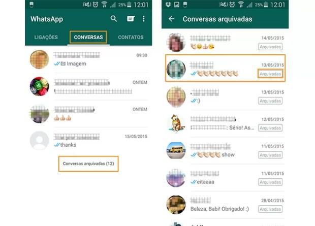 Acesse as conversas arquivadas no WhatsApp