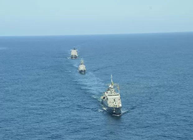 Marinha tem a missão de proteger as águas brasileiras; projeto suspenso queria garantir a segurança marítima e a defesa da zona econômica exclusiva (Foto: Marinha/divulgação)