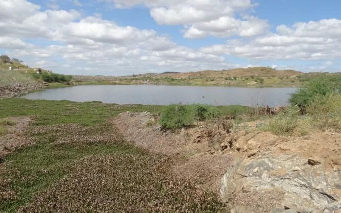 Açude de Camalaú, no Cariri da Paraíba, armazena e libera água da transposição do Rio São Francisco (Foto: MPF/Divulgação)