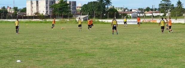 botafogo-pb treino (Foto: Lucas Barros / Globoesporte.com/pb)