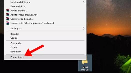Crie uma pasta com arquivos e acesse as propriedades no Windows  (Foto: Reprodução/Paulo Alves)