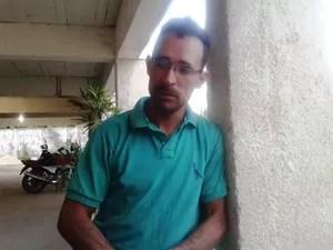 José Francisco foi atingido no ombro (Foto: Michelly Oda/G1)