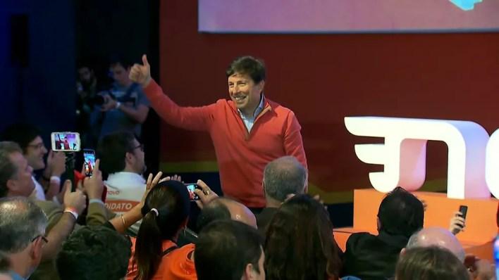 João Amoedo, candidato do Partido Novo às eleições presidenciais (Foto: GloboNews/Reprodução)