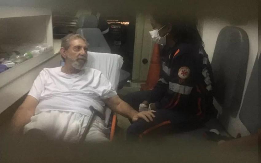 João de Deus chega ao Instituto Neurológico de Goiânia — Foto: — Foto: Rodrigo Gonçalves/G1
