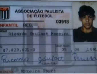 Carteirinha Ricardo Goulart Moreira (Foto: Reprodução)