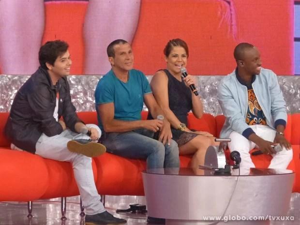 Gustavo Mendes, Eri Johnson, Gustavo Mendes e Thiaguinho (Foto: TV Xuxa / TV Globo)