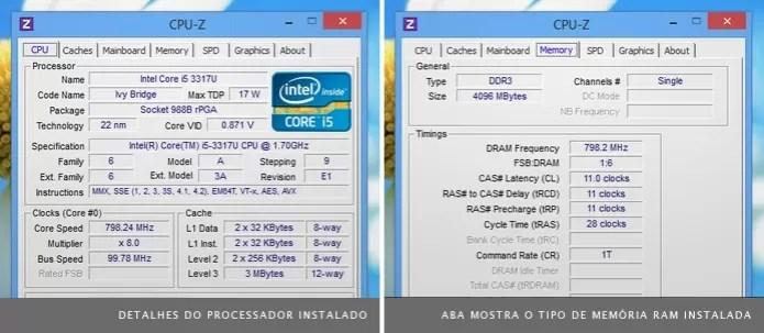 Com o programa CPU-Z é possível detectar os componentes instalados no computador (Foto: Reprodução/TechTudo) (Foto: Com o programa CPU-Z é possível detectar os componentes instalados no computador (Foto: Reprodução/TechTudo))