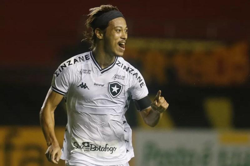 Honda comemora o gol contra o Sport, última vitória do Botafogo — Foto: Vitor Silva/Botafogo