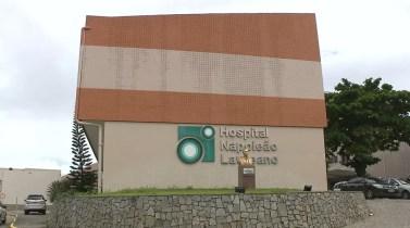 Hospital Napoleão Laureano, em João Pessoa (Foto: Reprodução/TV Cabo Branco)