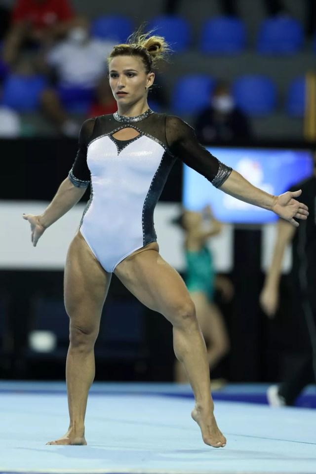 Jade Barbosa no Brasileiro de ginástica artística — Foto: Ricardo Bufolin/CBG