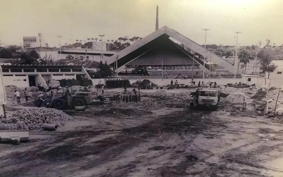 Em 1989 o Parque do Povo foi expandido por causa de grande sucesso de público no São João — Foto: Cléa Cordeiro/Memorial do Maior São João do Mundo/Arquivo Pessoal