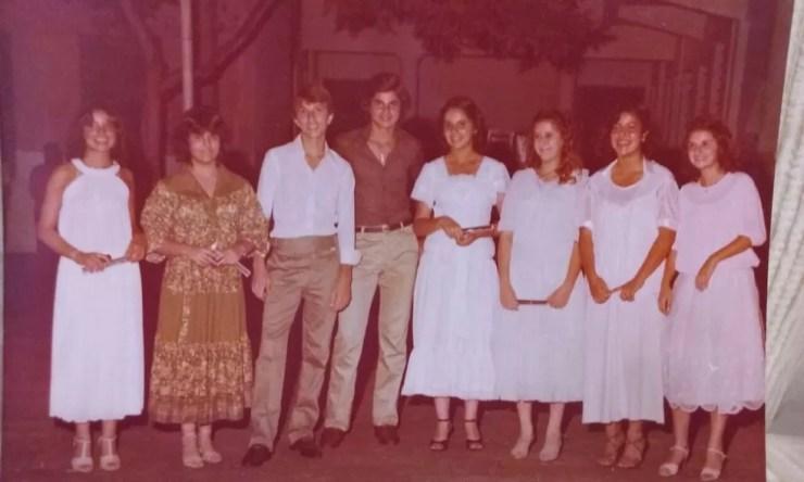 Alguns dos formandos da Turma de 1978  (Foto: Arquivo pessoal )
