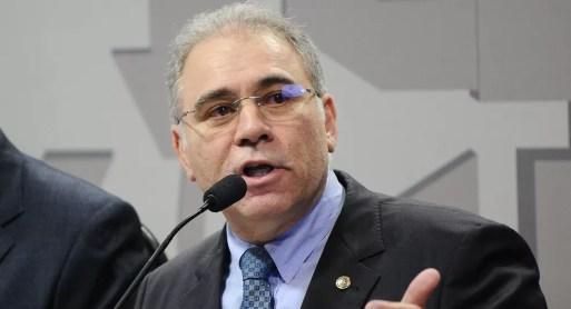 Marcelo Queiroga durante evento no Senado: médico foi escolha pessoal do presidente para o Ministério da Saúde. — Foto: Geraldo Magela/Agência Senado