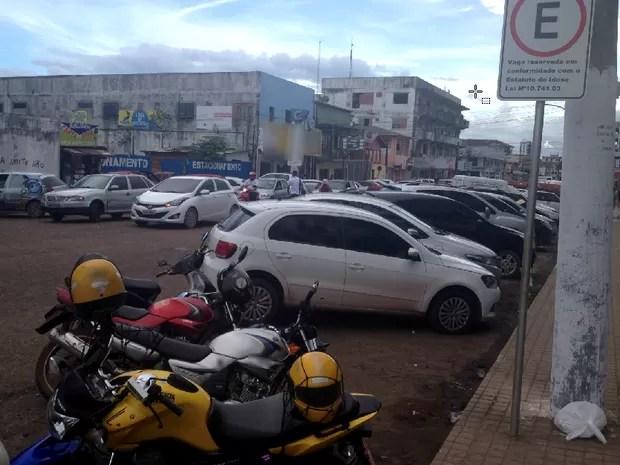 vaga, estacionamento, idoso, VC no G1, Macapá, Amapá (Foto: Jéssica Alves/G1)