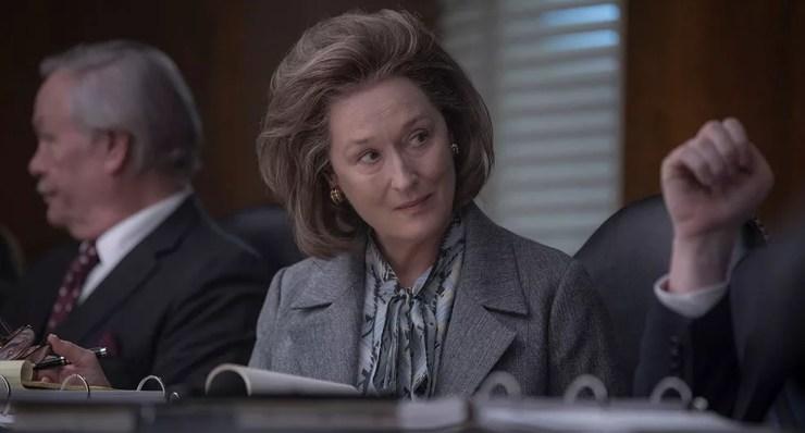 Meryl Streep como Kay Graham em cena do filme 'The Post: A guerra secreta', de Steven Spielberg (Foto: Divulgação)