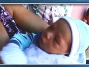 13º filho do casal de Conceição do Coité, na Bahia (Foto: Reprodução/TV Bahia)