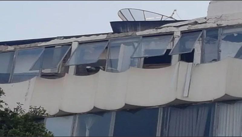 Hospital do Rio estava em obras quando laje desabou — Foto: Reprodução/ Redes sociais