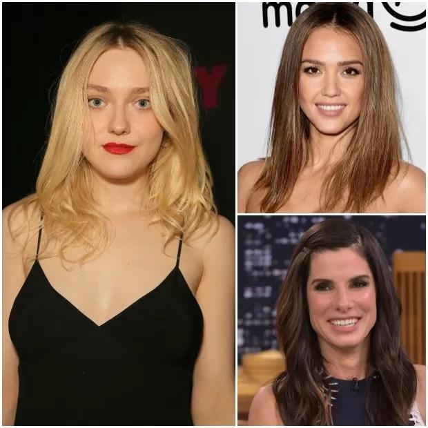 Dakota Fanning, Jessica Alba e Sandra Bullock (Foto: Getty Images)