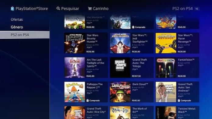 GTA: San Andreas: localize a aba PS2 on PS4 na loja virtual (Foto: Reprodução/Victor Teixeira)