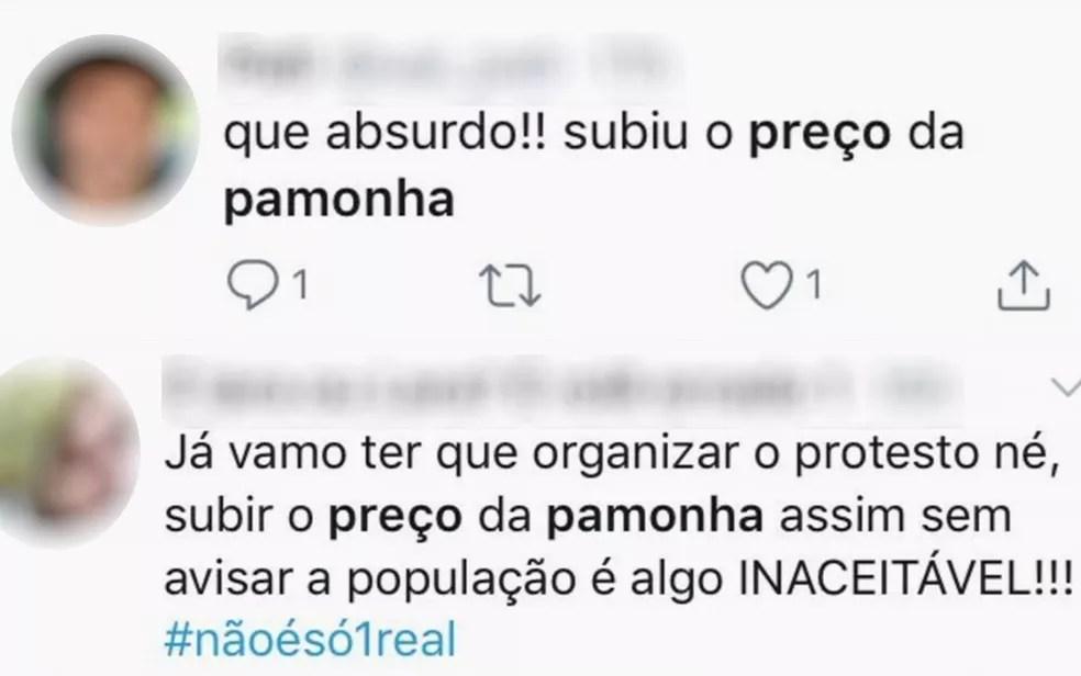 Alta da milho deixa pamonha mais cara em Goiás e gera protestos e memes na internet — Foto: Reprodução/TV Anhanguera