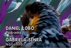 Daniel Lobo contracenava com Gabriela Senra como Pedrinho e Narizinho (Foto: TV Globo)