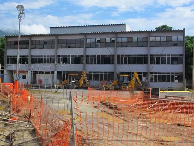 Como juiz comentou, prédio da Lanagro é um canteiro de obras (Foto: João Bandeira de Mello)