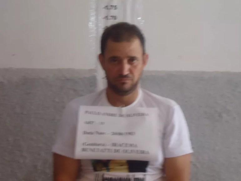 Paulo André de Oliveira foi preso depois do crime — Foto: PM-MT/ Divulgação