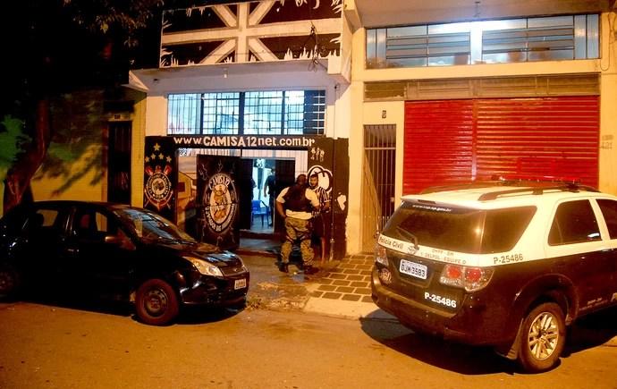 polícia torcida organizada do Corinthians prisão (Foto: Hélio Torchi / Agência Estado)