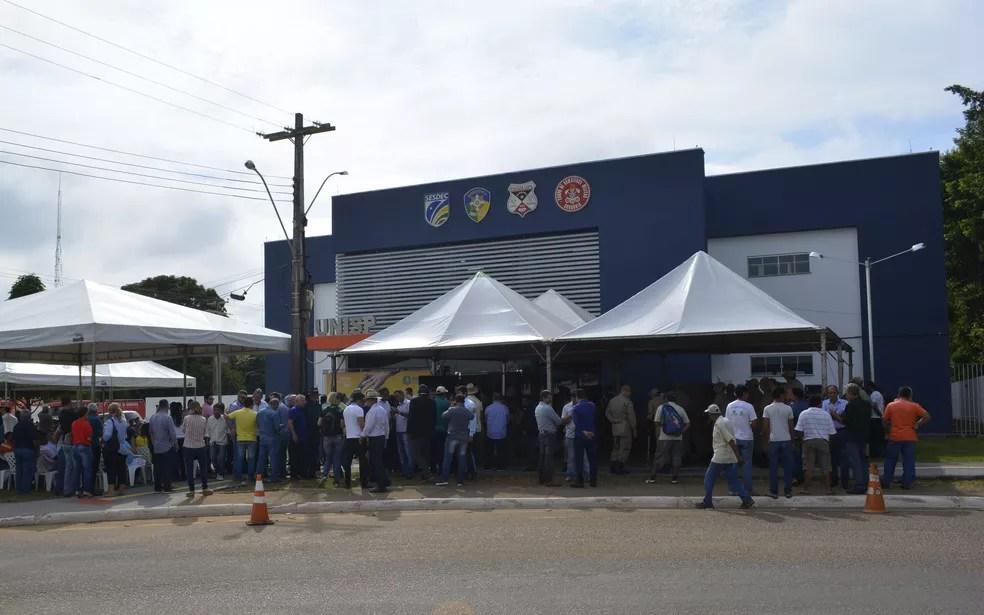 9ª Unidade Integrada de Segurança Pública (Unisp) de Rondônia foi inaugurada em Ariquemes (Foto: Diêgo Holanda/G1)
