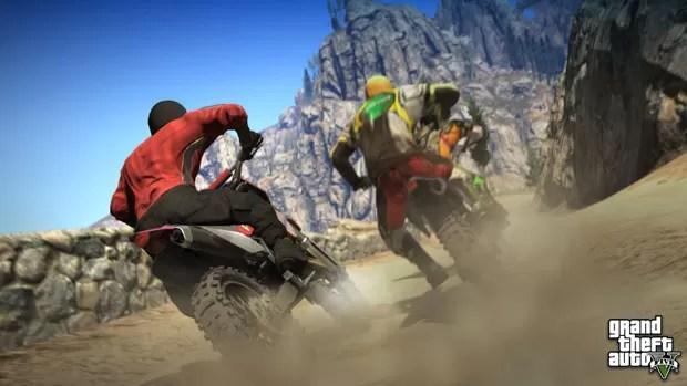 Motocross é uma das atividades dos moradores de Los Santos em 'GTA V' (Foto: Divulgação)