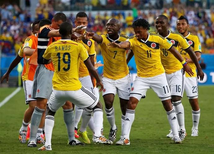 Cuadrado e Ramos gol Japão x Colômbia (Foto: Reuters)