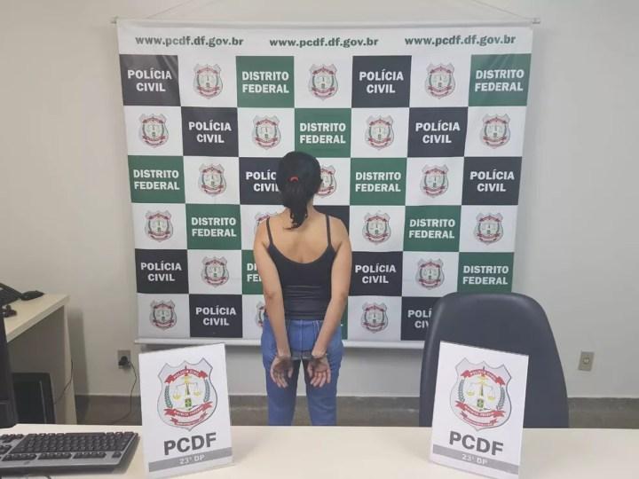 Enfermeira presa por estupro de vulnerável, no DF — Foto: Divulgação/Polícia Civil