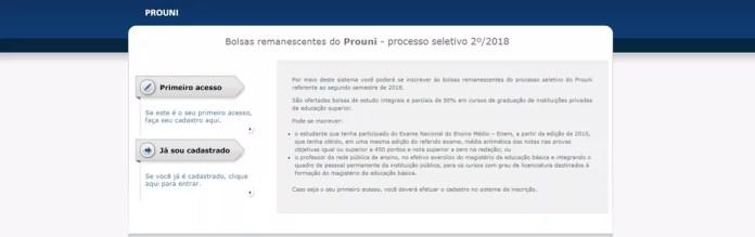 Inscrições para bolsas remanescentes do Prouni do 2º semestre estão abertas (Foto: Prouni/Divulgação)