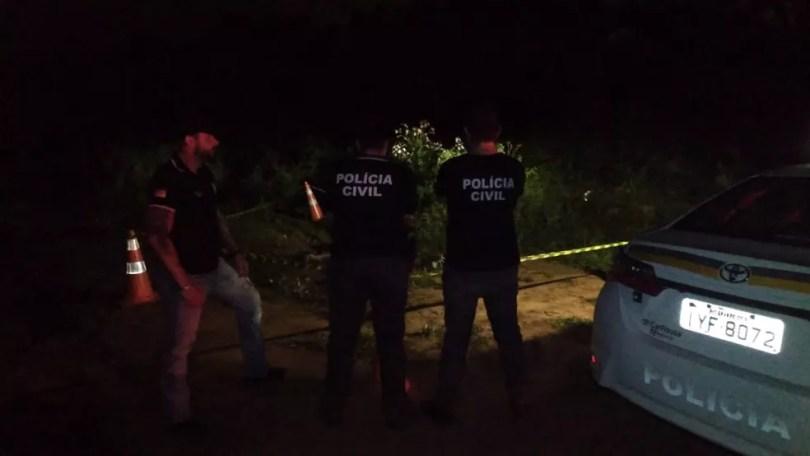 Tenente foi encontrado no fim de uma rua que faz divisa com Campo Bom — Foto: Divulgação / Polícia Civil