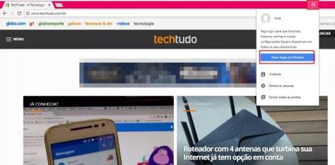 O Chrome permite adicionar diferentes perfis de usuários (Foto: Reprodução/ Taysa Coelho)