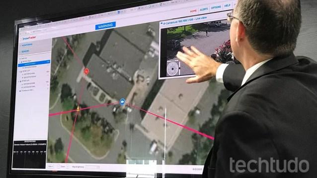 Câmeras com resolução 4K auxiliam a monitorar movimentação do drone (Foto: Thássius Veloso / TechTudo)