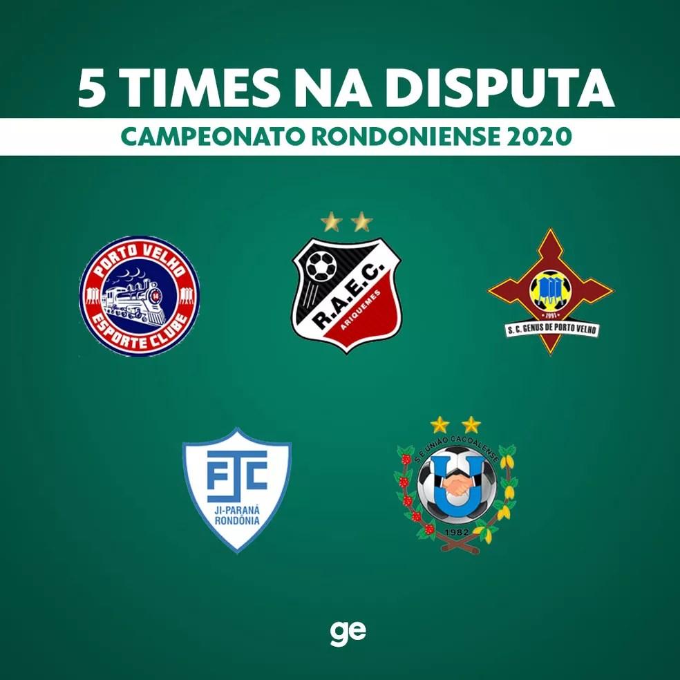 Cinco times voltam a disputar o Campeonato Rondoniense em novembro — Foto: Arte/ge