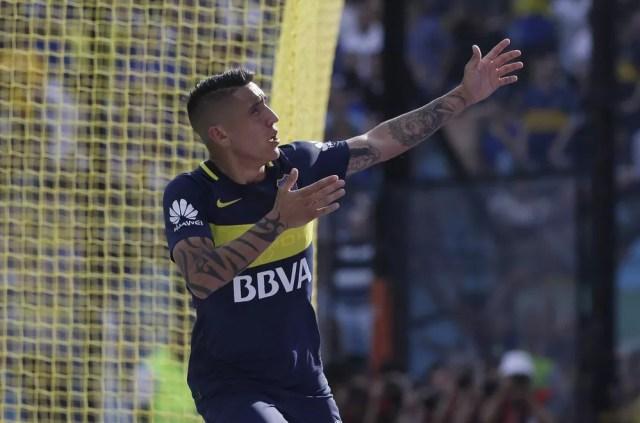 Centurión comemora gol pelo Boca Juniors (Foto: Reprodução Twitter)