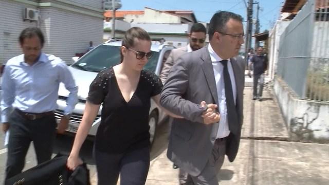 Lidiane Leite é presa em São Luís (Foto: Reprodução/TV Mirante)