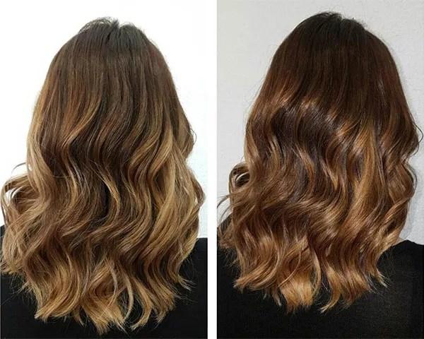 O cabelo tiger eye é feito com a técnica balayage (Foto: Reprodução/Instagram)