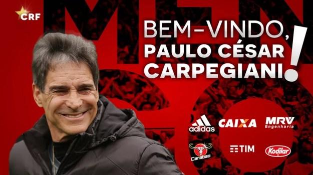 Carpegiani é o novo técnico do Flamengo (Foto: Carpegiani, Flamengo)