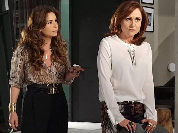 Helô pressiona Berna a contar a verdade (Foto: Salve Jorge/TV Globo)