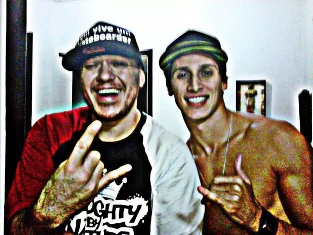 Chorão e o sobrinho Guilherme (Foto: Reprodução/ Facebook)