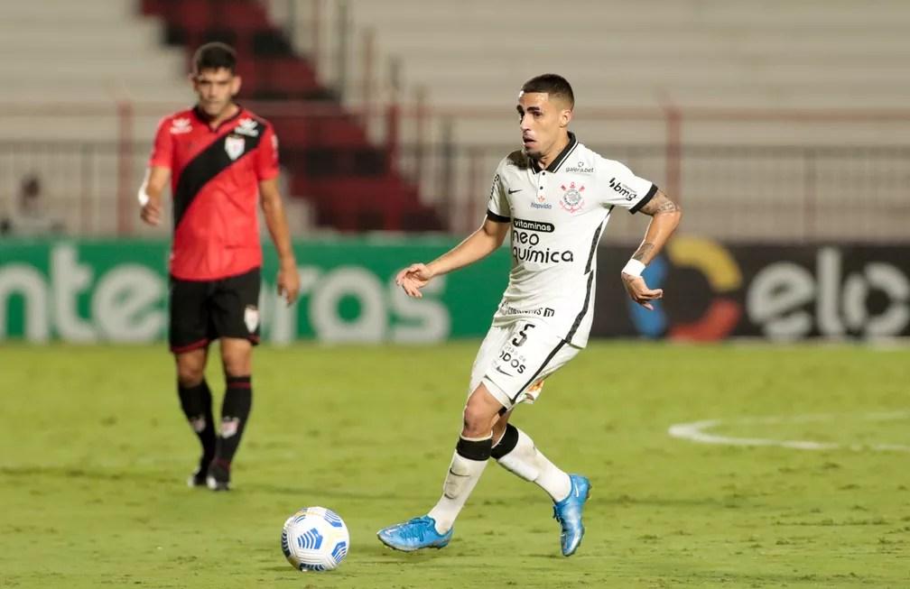 Gabriel em Corinthians x Atlético-GO — Foto: Rodrigo Coca/Agência Corinthians