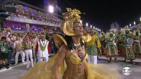 Paolla Oliveira volta à Sapucaí como rainha da Grande Rio:
