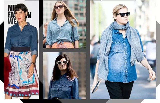 Camisa jeans (Foto: Arte Vogue Online)