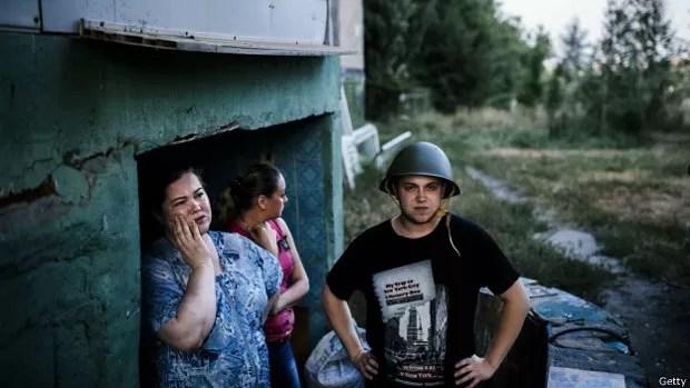 A violência do combate entre o Exército ucraniano e rebeldes já deixou mais de 300 mil refugiados (Foto: Getty)