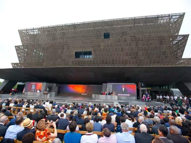Museu Afro-americano inaugurado neste sábado (24) em Washington (Foto: Pablo Martinez Monsivais / AP)